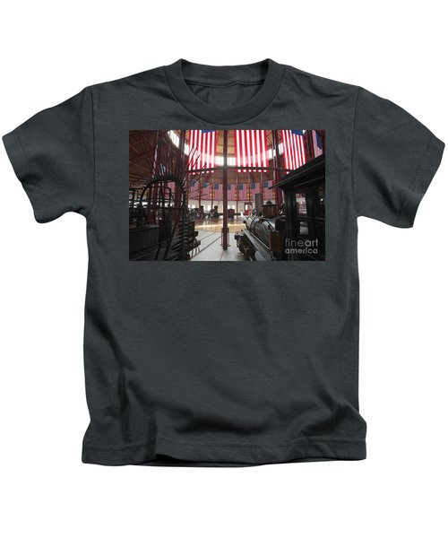 In The Roundhouse At The B And O Railroad Museum In Baltimore Kids T-Shirt