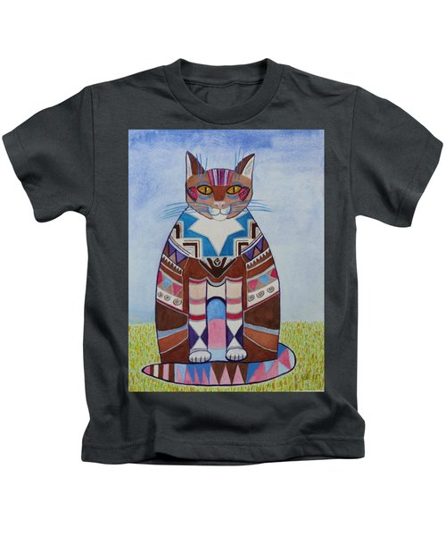 Indian Squirrel Cat Kids T-Shirt