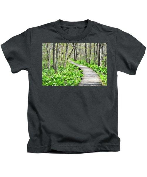 Indiana Dunes Great Green Marsh Boardwalk Kids T-Shirt