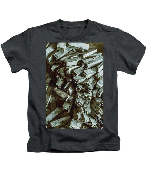 Industrial Letterpress Typeset  Kids T-Shirt
