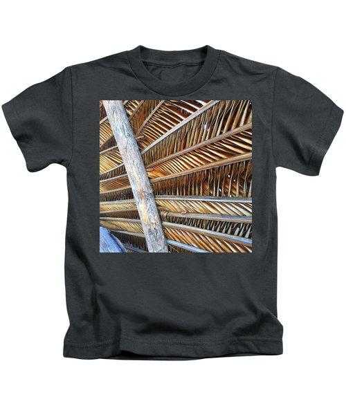 Palm Thatch Detail  Kids T-Shirt