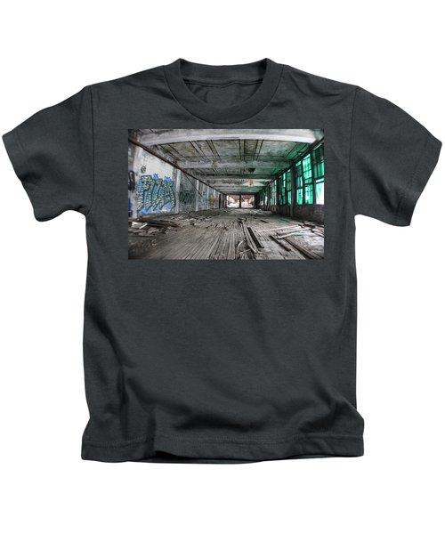 Inside Detroit Packard Plant  Kids T-Shirt