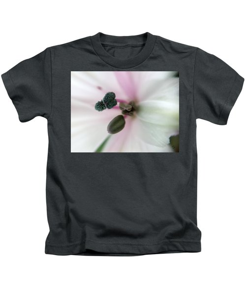 Kids T-Shirt featuring the photograph Inside Macro Tulip  by Marian Palucci-Lonzetta