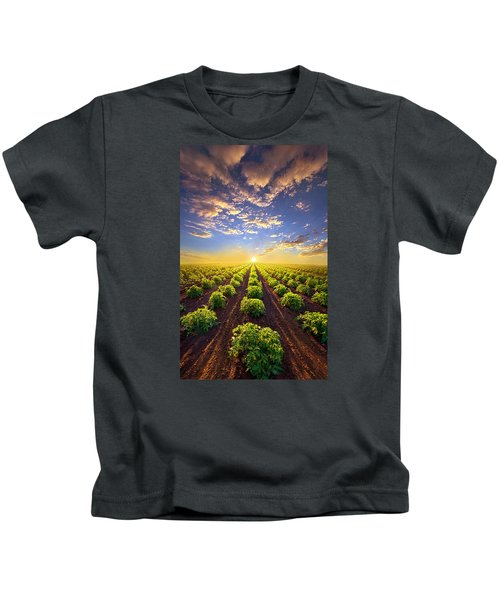 Into The Future Kids T-Shirt by Phil Koch