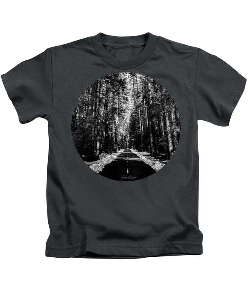 Into The Woods, Black And White Kids T-Shirt by Adam Morsa