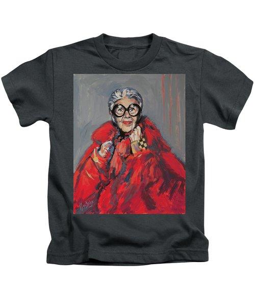Iris Apfel Style Icon Kids T-Shirt by Nop Briex