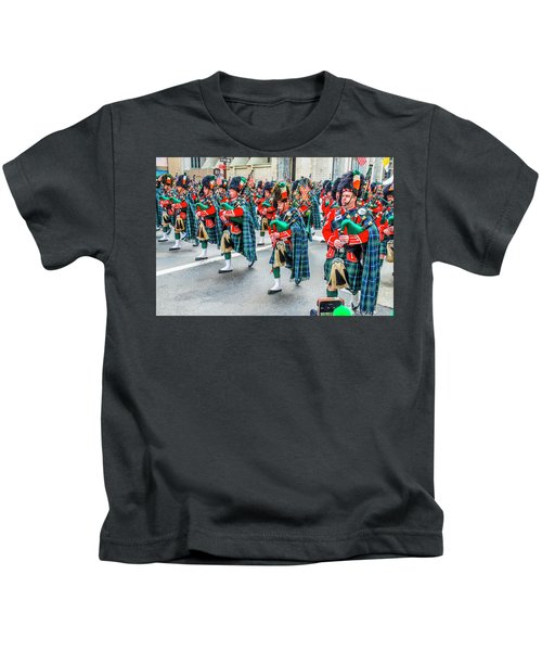 St. Patrick Day Parade In New York Kids T-Shirt