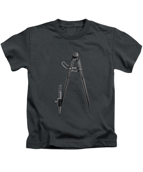 Iron Compass Backside In Bw Kids T-Shirt