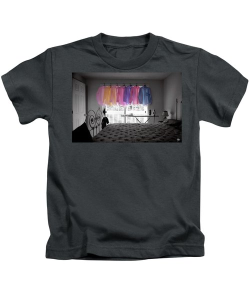 Ironing Adds Color To A Room Kids T-Shirt