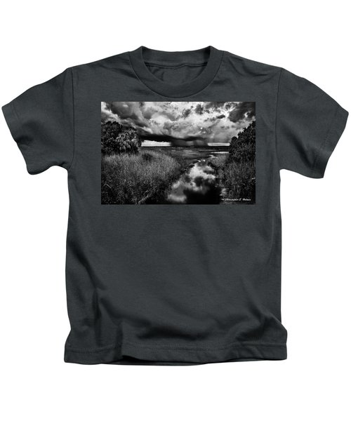 Isolated Shower - Bw Kids T-Shirt