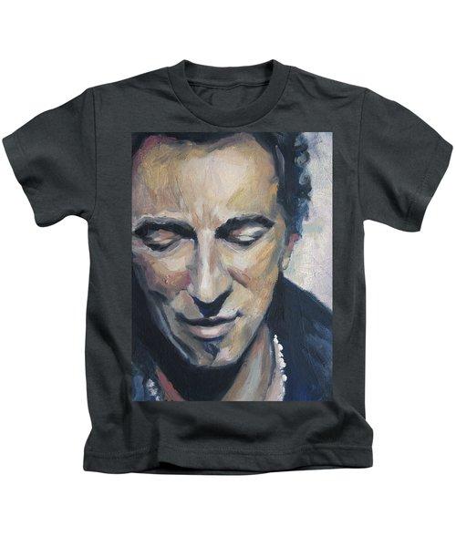 It's Boss Time II - Bruce Springsteen Portrait Kids T-Shirt