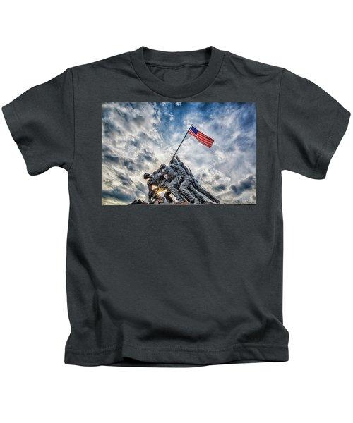 Iwo Jima Memorial Kids T-Shirt