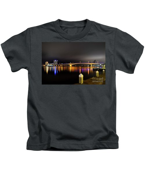 Jacksonville Night Sky Kids T-Shirt
