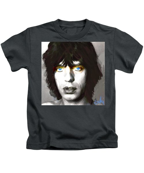 Jagger 1960s By Enki  Kids T-Shirt