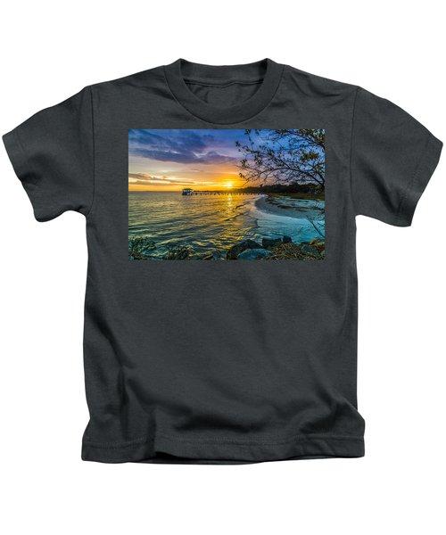 James Island Sunrise - Melton Peter Demetre Park Kids T-Shirt