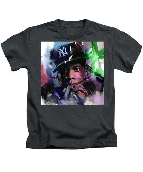 Jay Z Kids T-Shirt by Richard Day