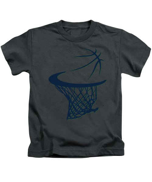Jazz Basketball Hoop Kids T-Shirt