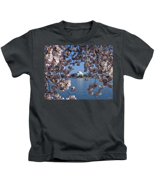 Jefferson Memorial On The Tidal Basin Ds051 Kids T-Shirt by Gerry Gantt