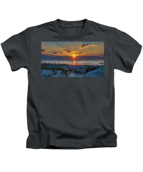 Jekyll Island Sunrise Kids T-Shirt