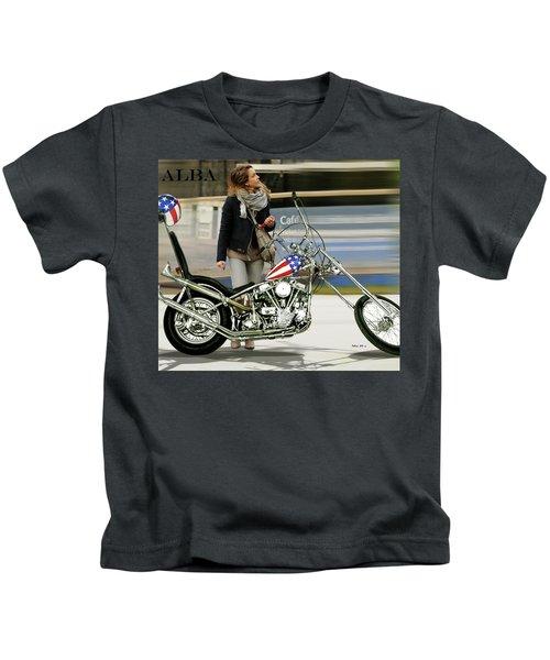 Jessica Alba, Captain America, Easy Rider Kids T-Shirt
