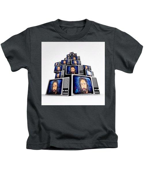 Jesus On Tv Kids T-Shirt