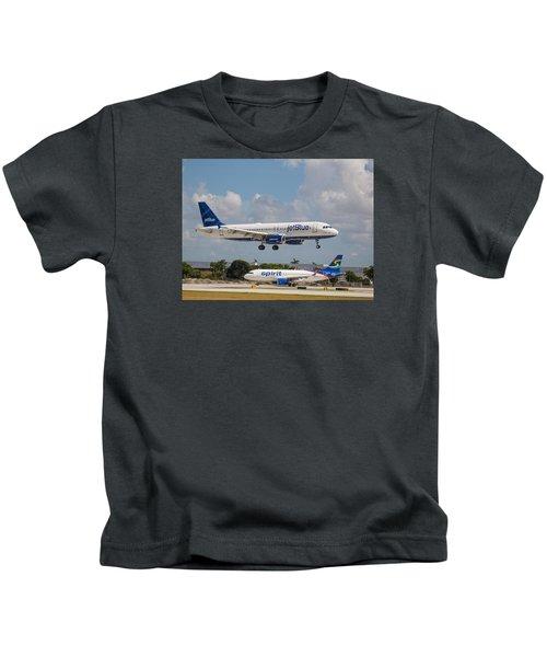 Jetblue Over Spirit Air Kids T-Shirt