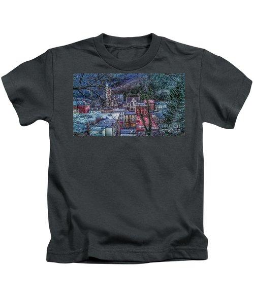 Jim Thorpe Pennsylvania In Winter #1 Kids T-Shirt