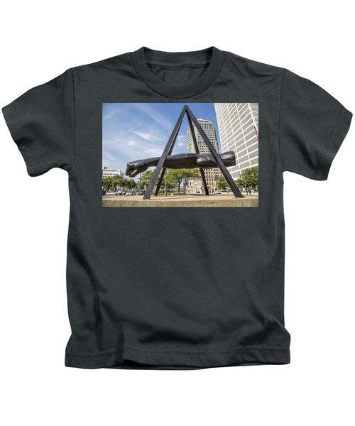 Joe Louis Fist In Detroit In Color  Kids T-Shirt