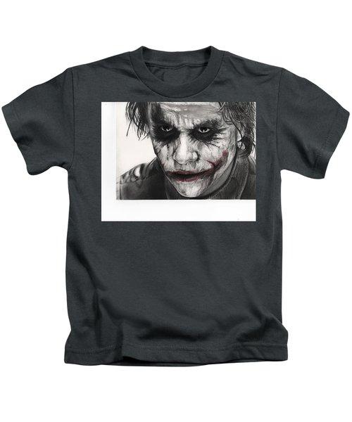 Joker Face Kids T-Shirt by James Holko