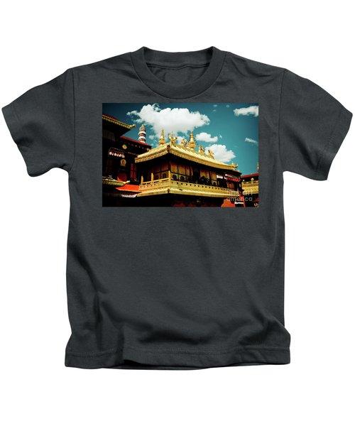 Jokhang Temple Fragment  Lhasa Tibet Artmif.lv Kids T-Shirt