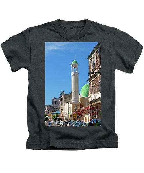 Jumma Mosque Long Kids T-Shirt