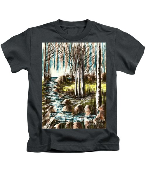 Just Around The Riverbend  Kids T-Shirt