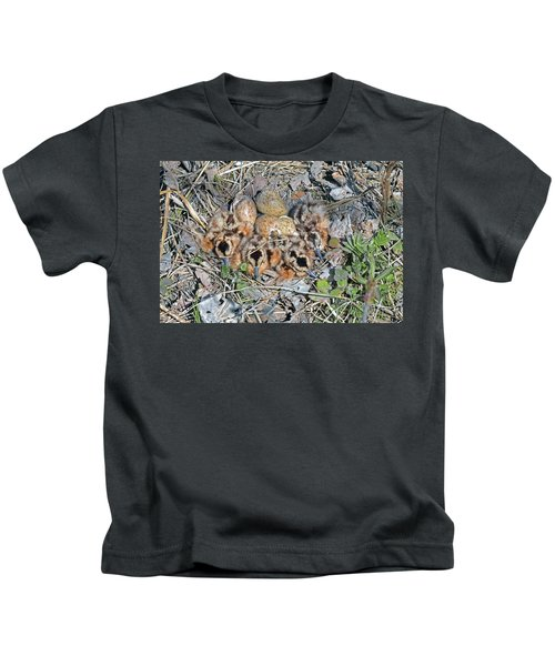 Just Hatched American Woodcock Chicks Kids T-Shirt by Asbed Iskedjian