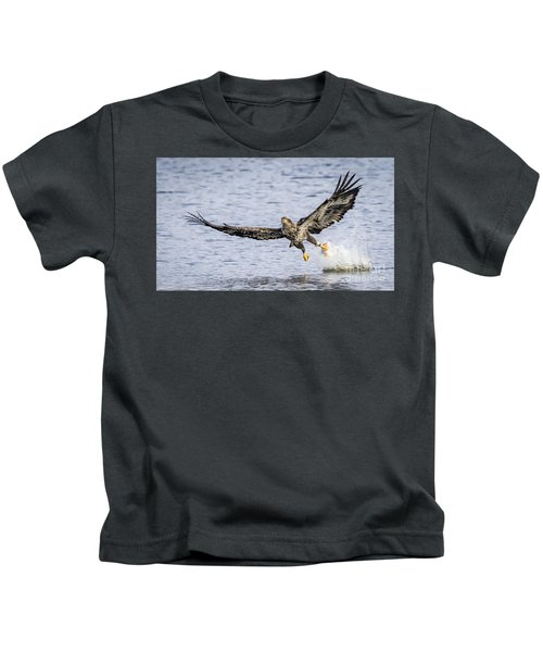 Juvenile Bald Eagle Fishing Kids T-Shirt