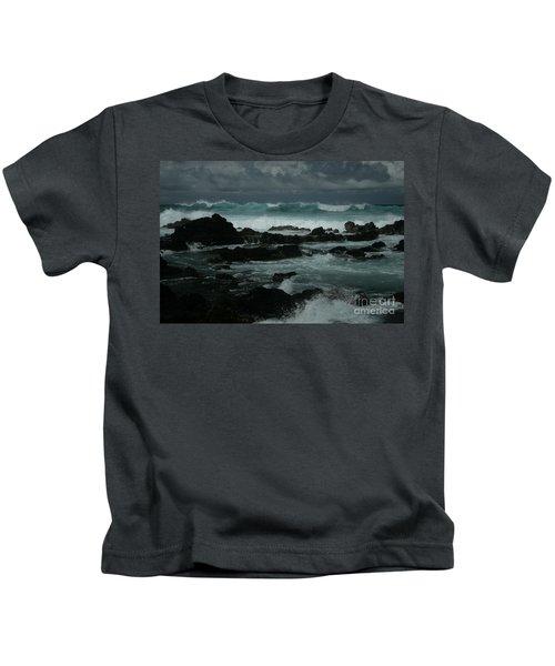 Ka Makani Kaiili Aloha Hookipa Maui Hawaii  Kids T-Shirt