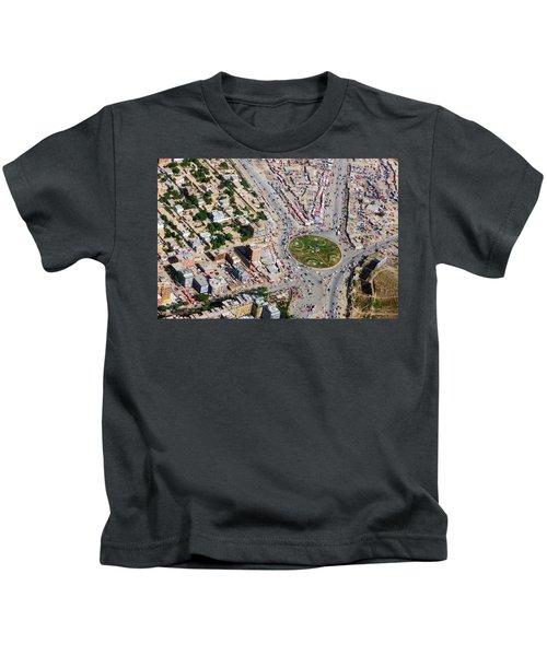 Kabul Traffic Circle Aerial Photo Kids T-Shirt