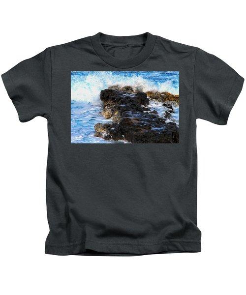 Kauai Rock Splash Kids T-Shirt
