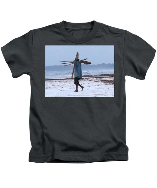Kenyan Fisherman And Oars Kids T-Shirt