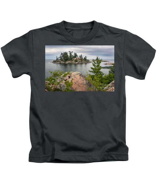 Killarney-island-pink-4513 Kids T-Shirt