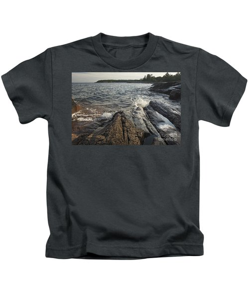 Killarney Shore Splash-4379 Kids T-Shirt