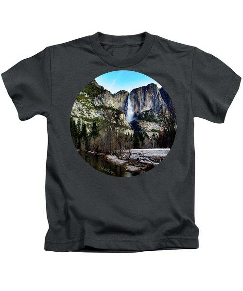 King Of Waterfalls Kids T-Shirt by Adam Morsa