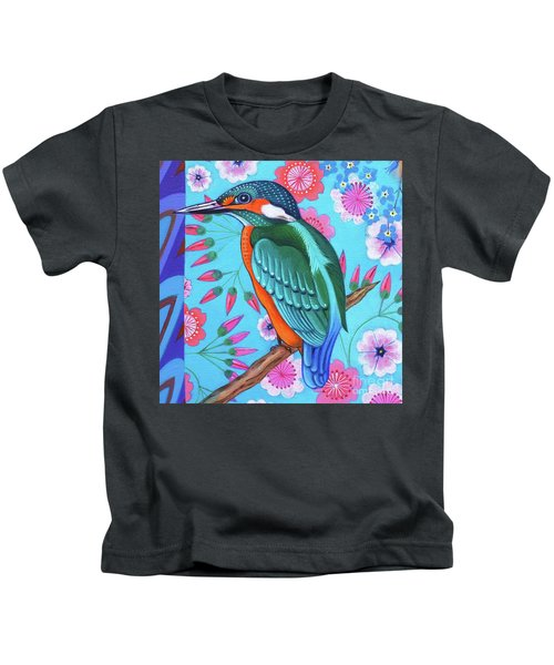 Kingfisher Kids T-Shirt by Jane Tattersfield