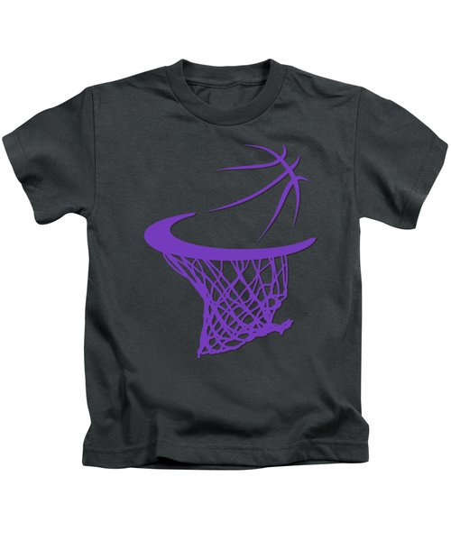 Kings Basketball Hoop Kids T-Shirt