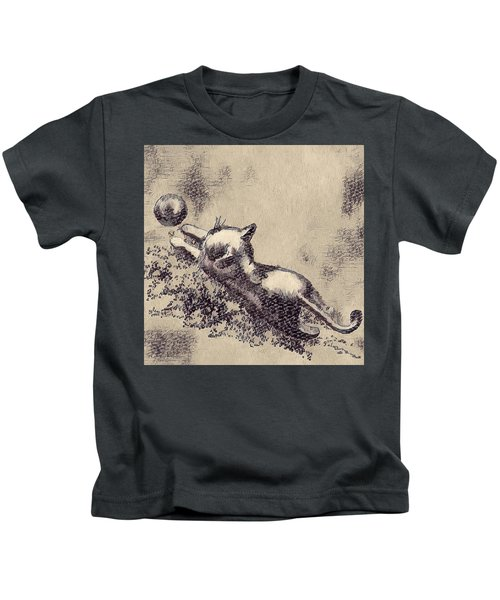 Kitten Playing With Ball Kids T-Shirt