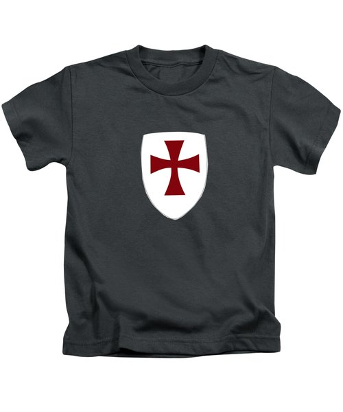 Knights Templar Crusades Shield Kids T-Shirt