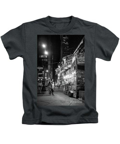 Knish, New York City  -17831-17832-bw Kids T-Shirt