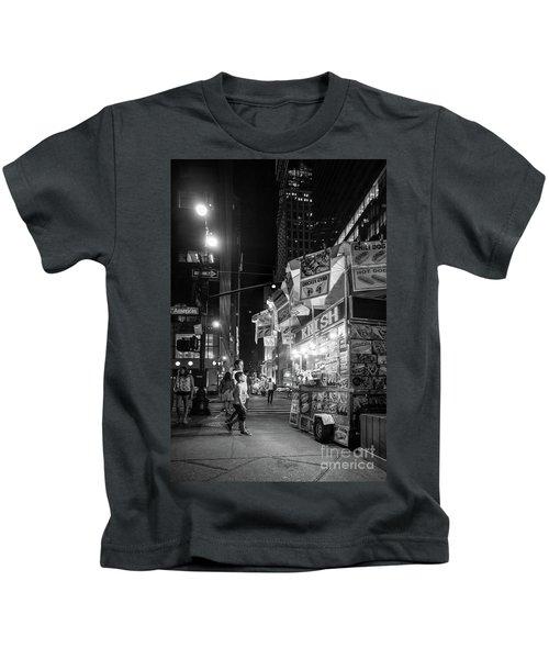 Knish, New York City  -17831-17832-bw Kids T-Shirt