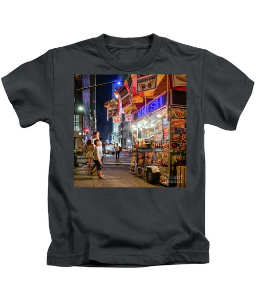 Knish, New York City  -17831-17832-sq Kids T-Shirt