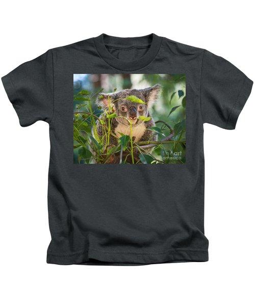 Koala Leaves Kids T-Shirt by Jamie Pham