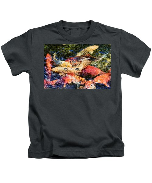Koi Pond By H H Photography Of Florida Kids T-Shirt